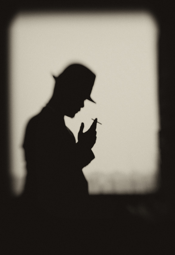 一个人影子唯美意境