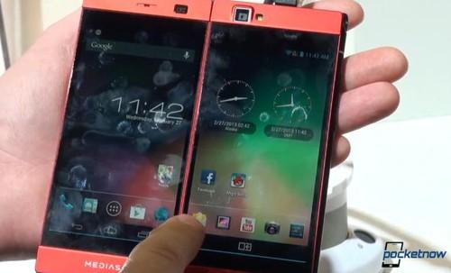 MWC2013奇葩 双屏手机NEC Medias W试玩
