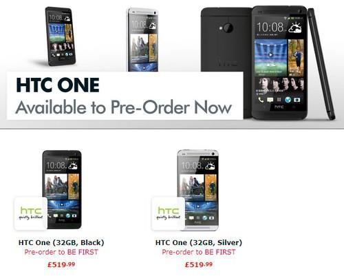 约合4300元 32GB版HTC One英国开启预订