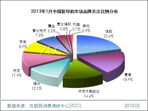 2013年1月中国复印机市场分析报告