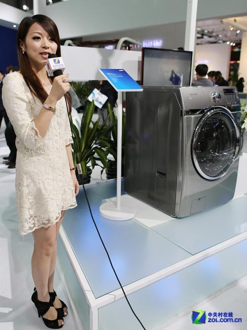 美女看展 三星最大容量洗衣机完全剖析