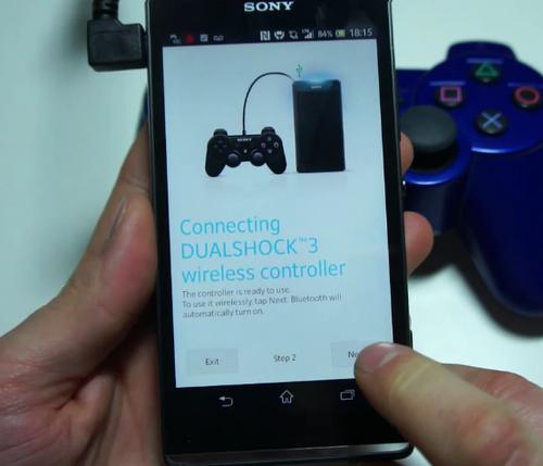 视频中的索尼xperia sp对无线手柄添加了原生支持 高清图片