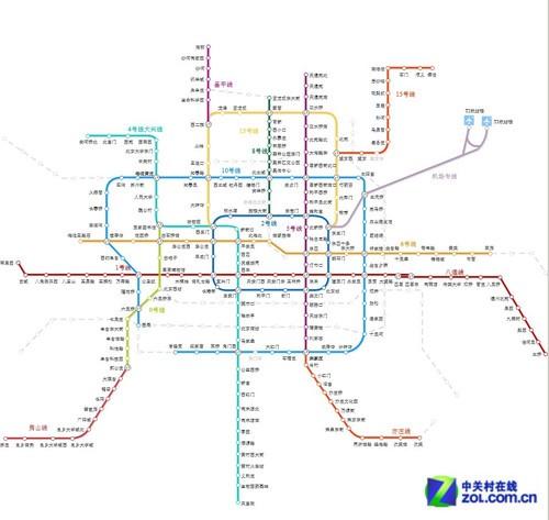北京地铁规划图图片