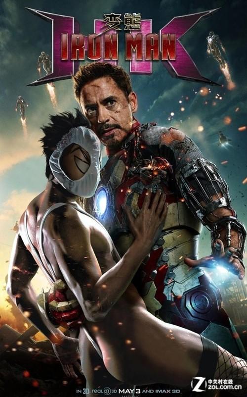 变态假面 令人永生难忘《钢铁侠3》海报