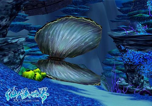 海底龙宫戏珍珠