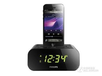 飞利浦(PHILIPS)AJ3275DZ 苹果iPhone6S/6Plus/5S充电器 音乐底座音响/音箱 闹钟/FM收音机 黑色