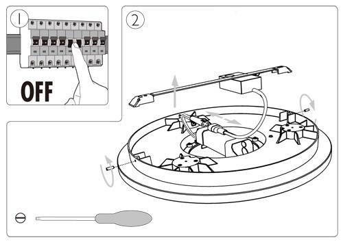 飞利浦led吸顶灯结构示意(图片源自飞利浦)