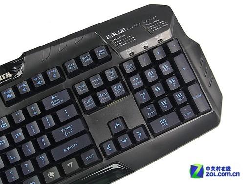 宜博魅影狂蛇特别行动xl游戏机械键盘采用标准的104键位设计,键盘的