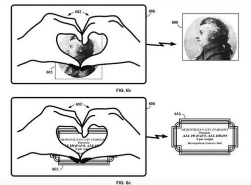 """谷歌眼镜新专利:划个手势就能""""点赞"""""""