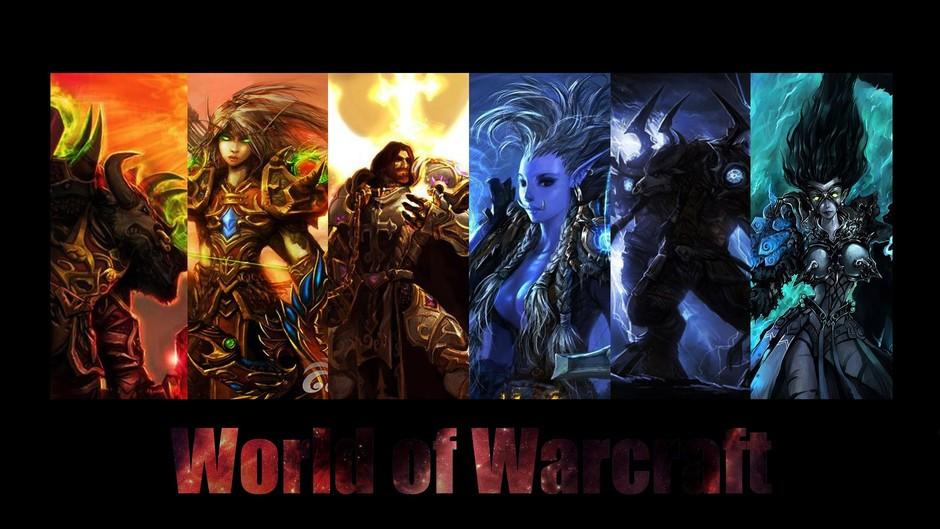 玩家精致原创《魔兽世界》全职业桌面壁纸
