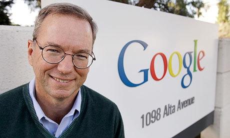 谷歌执行董事长和前CEO,埃里克-施密特(Eric Schmidt)