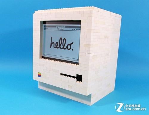牛人用乐高积木和iPad搭建Macintosh电脑