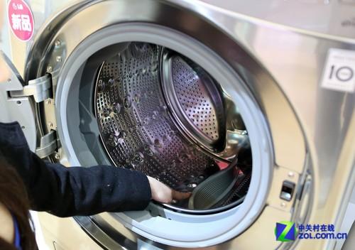 lg wd-r14487ds智能滚筒洗衣机内筒展示