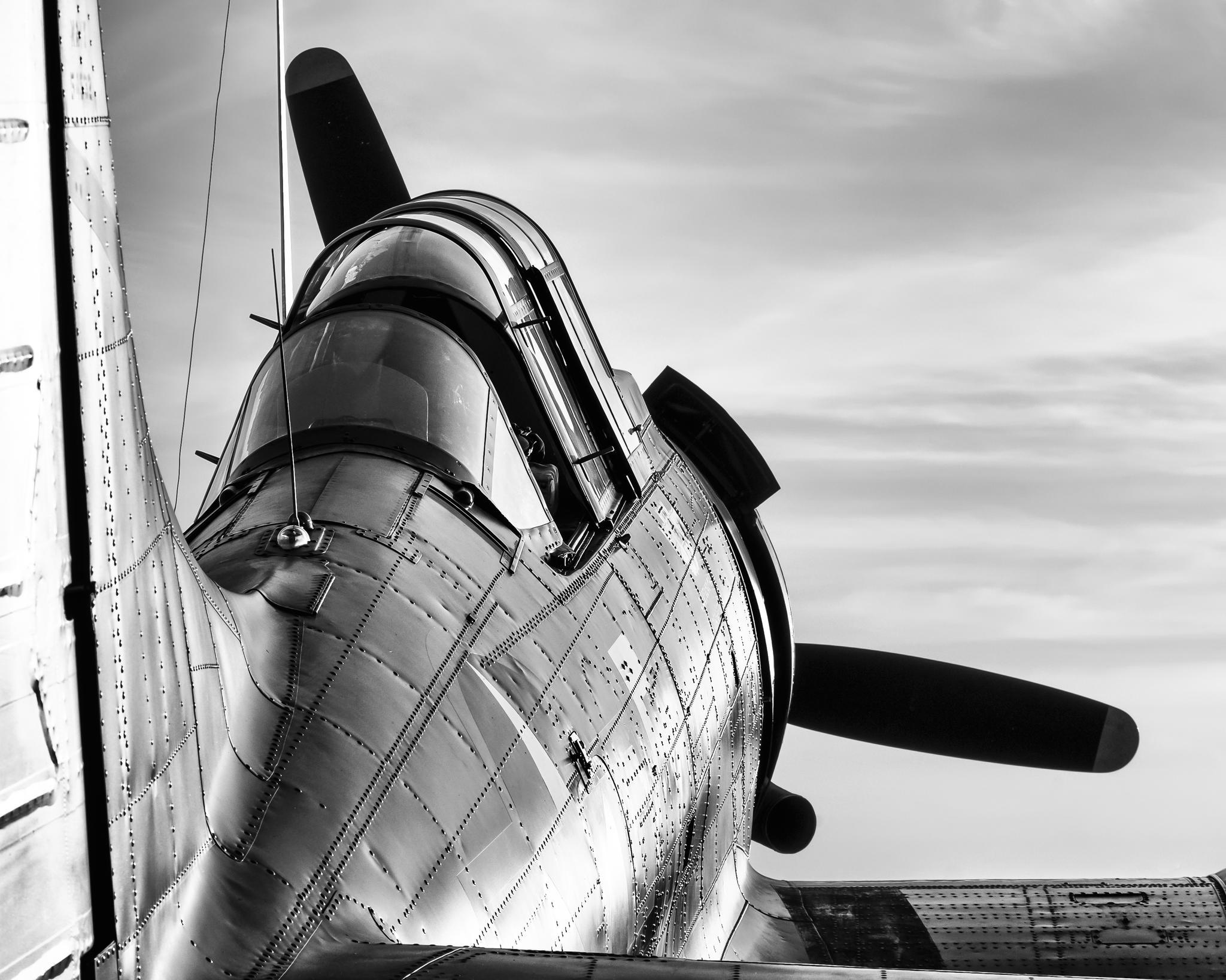 老式螺旋桨飞机的风采