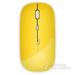 ESAN壹尚 M300+ 无线鼠标充电 超薄无声商务锂电池自带充电笔记本电脑办公 包邮 黄色 充电版