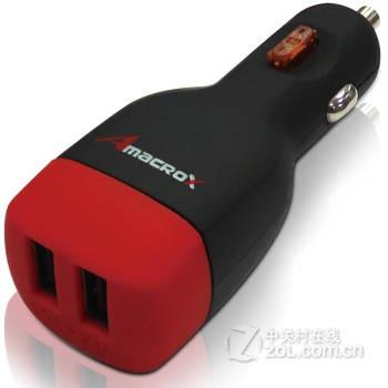 amacrox 艾美克斯 车载充电器 双usb 15w/1a/3.1a 原装正品 质保1年
