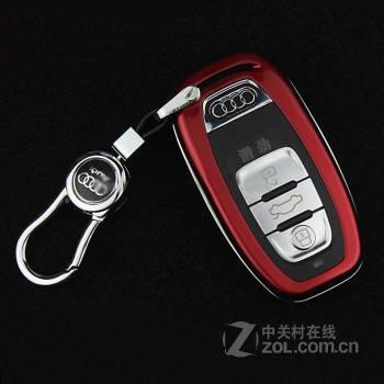 潜劲 奥迪a6l钥匙包 a4l/a5/q5/a7/a8/a8l汽车钥匙壳专用改装钥匙套