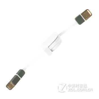湛蓝贝壳 数据线 二合一伸缩usb充电器线 安卓苹果6/6plus/5s三星小米