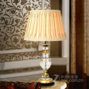 铜高端水晶台灯 欧式奢华客厅书房卧室床头台灯t217
