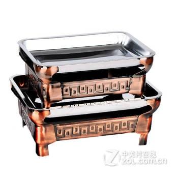 回纹特级加厚诸葛烤鱼炉鱼头锅酒精木炭烤炉送不锈钢超级加厚烤盘