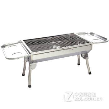 不銹鋼燒烤爐 戶外室內烤架 家用木炭燒烤工具套裝 便攜折疊式木炭