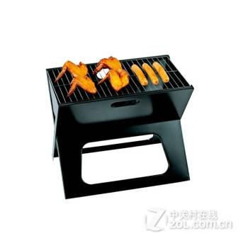 乐游 欧式手提箱式便携烧烤炉 家用烧烤套装 木炭烧烤架 户外烧烤架图片