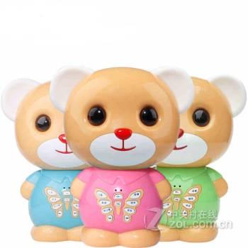 3q宝贝儿童智能故事机可充电下载早教机婴幼儿mp3音乐益智玩具小熊 标