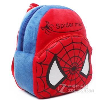 eot 蜘蛛侠可爱宝宝玩具小书包男孩小书包1岁2岁儿童双肩包幼儿小书包