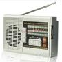 首雨 数字调频DSP全波段插卡便携充电收音机老年MP3 DP-32UR 红色 灰色