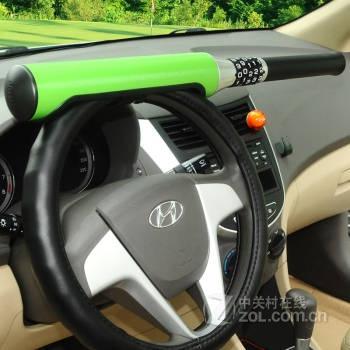 飞天狐 汽车密码锁 棒球锁 方向盘防盗锁 草绿色