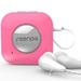 Seenda蓝牙耳机立体声音乐入耳式蓝牙接收器NFC蓝牙运动跑步耳机 粉红色