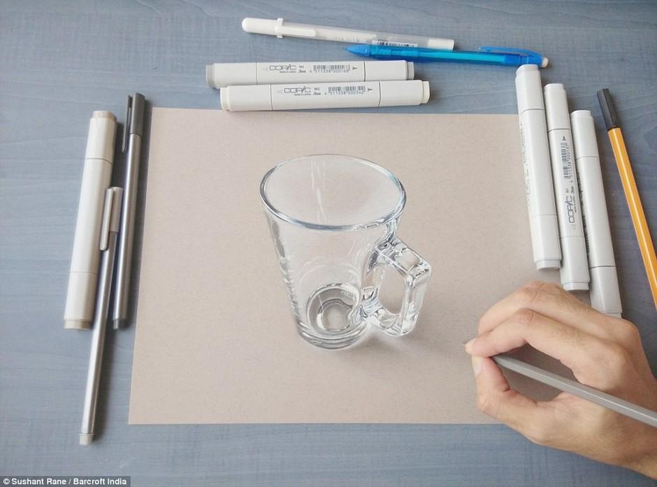 印度艺术家逆天3d立体手绘