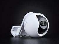 8倍AI双目变焦  萤石C8PF庭院摄像机图赏