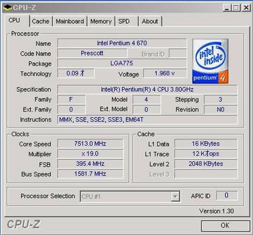 CPU-Z信息(点击放大)