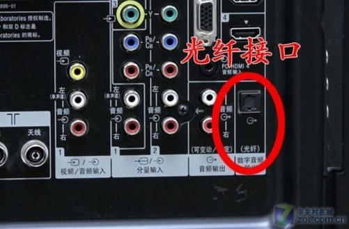 接入产品类型:有线电视智能卡(大卡)  最高端接口光纤(OPTICAL)接口 光纤接口可能是这些接口中最不为人知的一种接口形式,它是一种音频输出方式,连接光纤线,目前大多数DVD影碟机、蓝光播放机都具有光纤输出端子,电视上的光纤输出可以连接家庭影院系统,输出更为出色的音质效果。 光纤传输可以实现电气隔离,阻止数字噪音通过地线传输,有利于提高DAC的信噪比。由于光纤连接的信号要经过发射器和接收器的两次转换,会产生影响音质的时基抖动误差,这类光纤接口音质表现较为透明,数码味较浓。目前使用光纤输出的还不多,