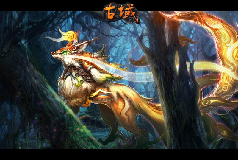 s君手绘人物九尾狐