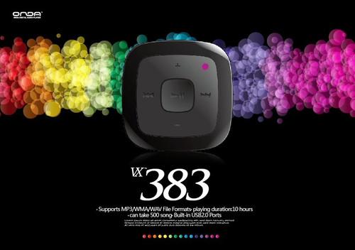 时尚MP3再添新品!昂达VX383曝光仅99元