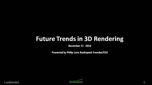 GPU更易用 Bunkspeed解析渲染未來趨勢