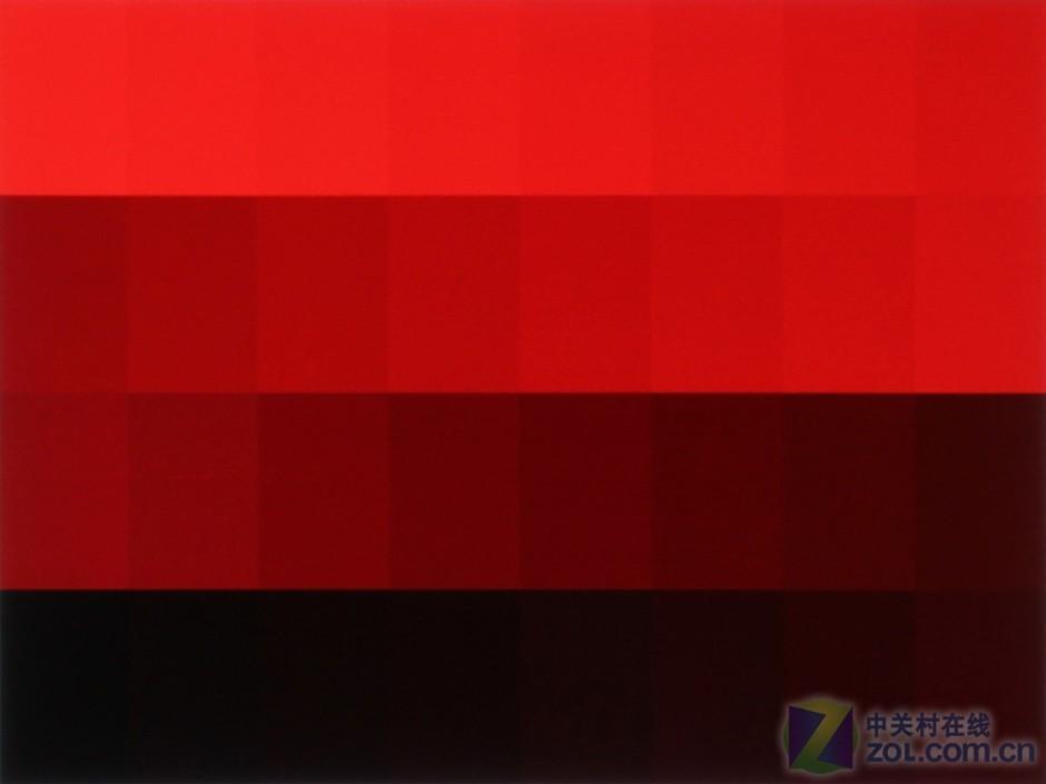 红色渐变色块效果