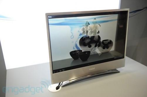 这款电视机采用轻薄的外观和金属材质的窄边框设计,其oled屏幕拥有