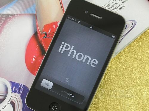 iPhone 4S 黑色 屏幕图