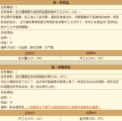 天龙八部3新手任务 1-9级活动任务全攻略