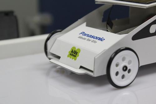 环保从娃娃抓起 松下展厅太阳能车动手做