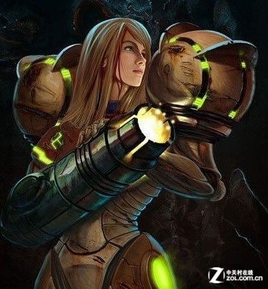 来自《银河战士》美女赏金猎人的装甲