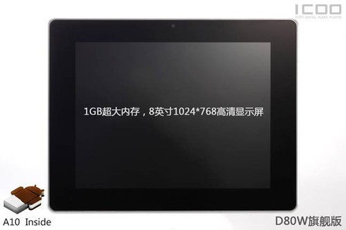 ICOO D80W release to market soon 1GB RAM 1024*768 high resolution