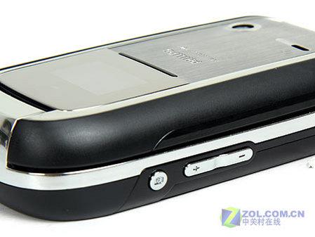 图为飞利浦公司的新款翻盖商务手机