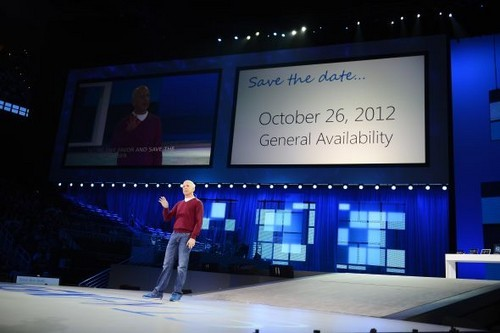 微软宣布Windows 8将于10月26日发布
