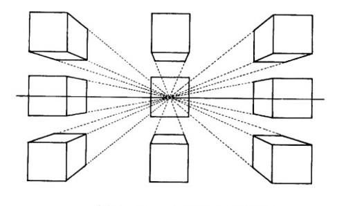 立方体空间透视图示