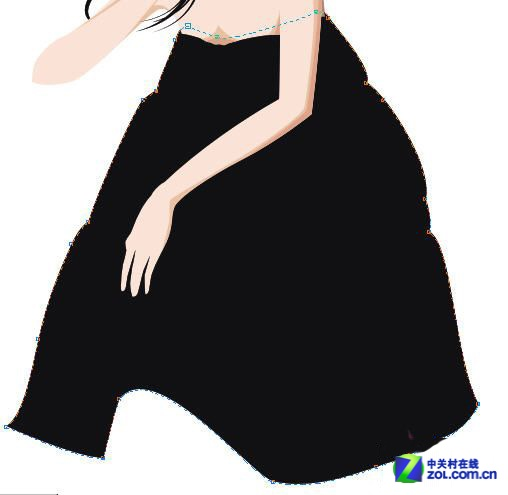 CorelDRAW鼠绘教程 绘制韩国插画人物