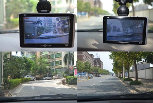 s16行车记录仪广角高清录制画面与实景拍摄对比